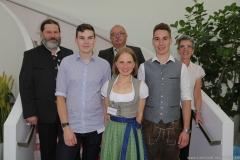 Lennart Dege (vorne von li. nach re.), Brauermeisterschaft in der Berufsschule für Brauwesen in München 2018