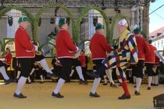 Schäfflertanz am Münchner Brauertag am Odeonsplatz in München 2019