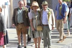 Hans-Peter Rupp, Ulrike Grimm. Otto Seidl (von li. nach re.), Münchner Brauertag am Odeonsplatz in München am 29.6.2019