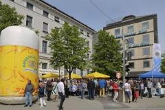 Tag des Bieres am Bierbrunnen Ecke Oskar-von-Miller-Straße/Briennerstraße in München 2019