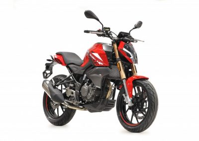 MOTOCICLETA HANWAY FURIOUS 125 NAKED COLOR ROJO