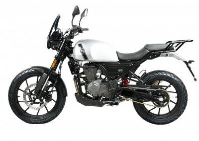 motocicleta hanway G15 color plata mate