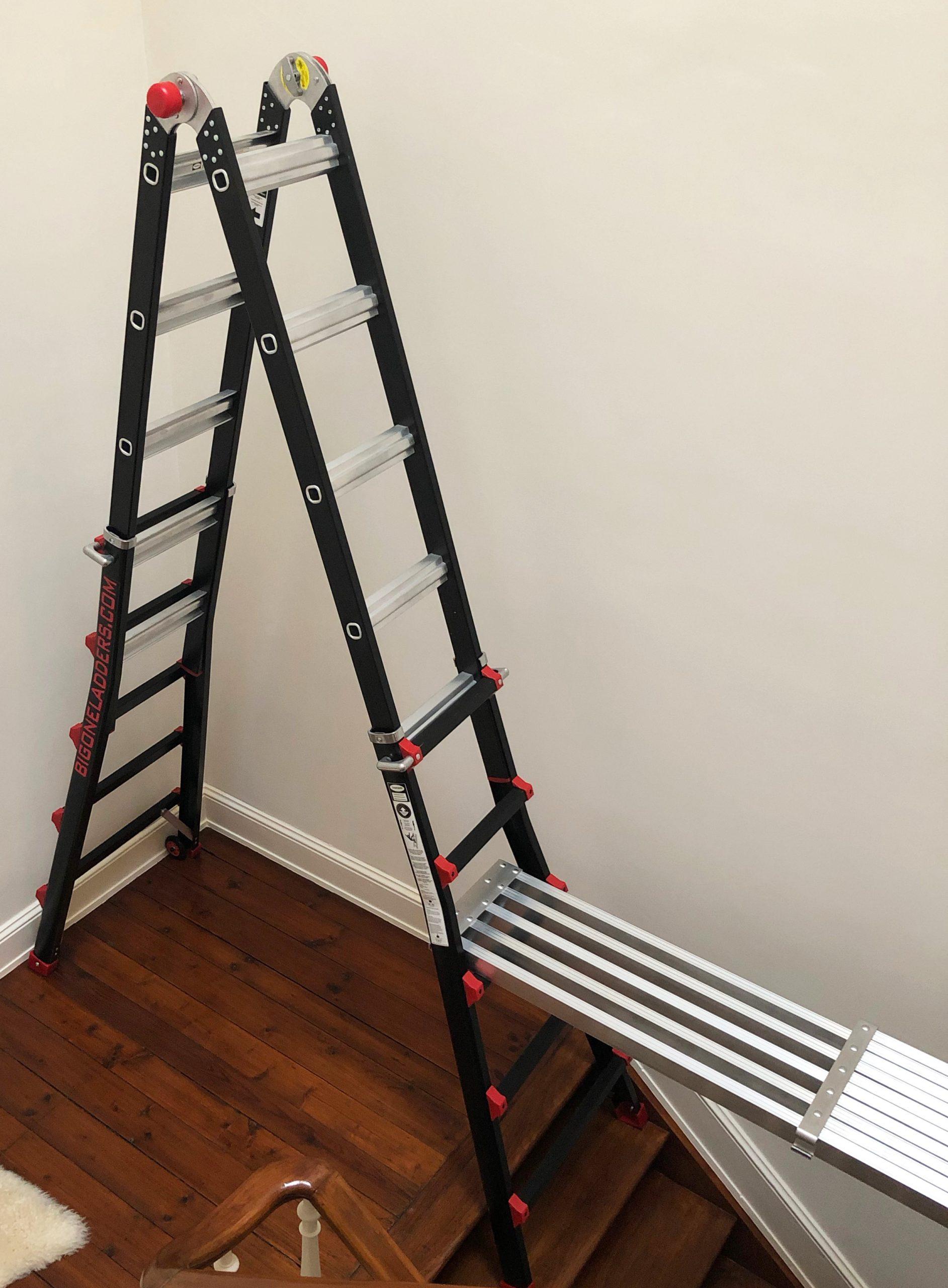 4x5 bigone ladder met telescopisch platform op trap