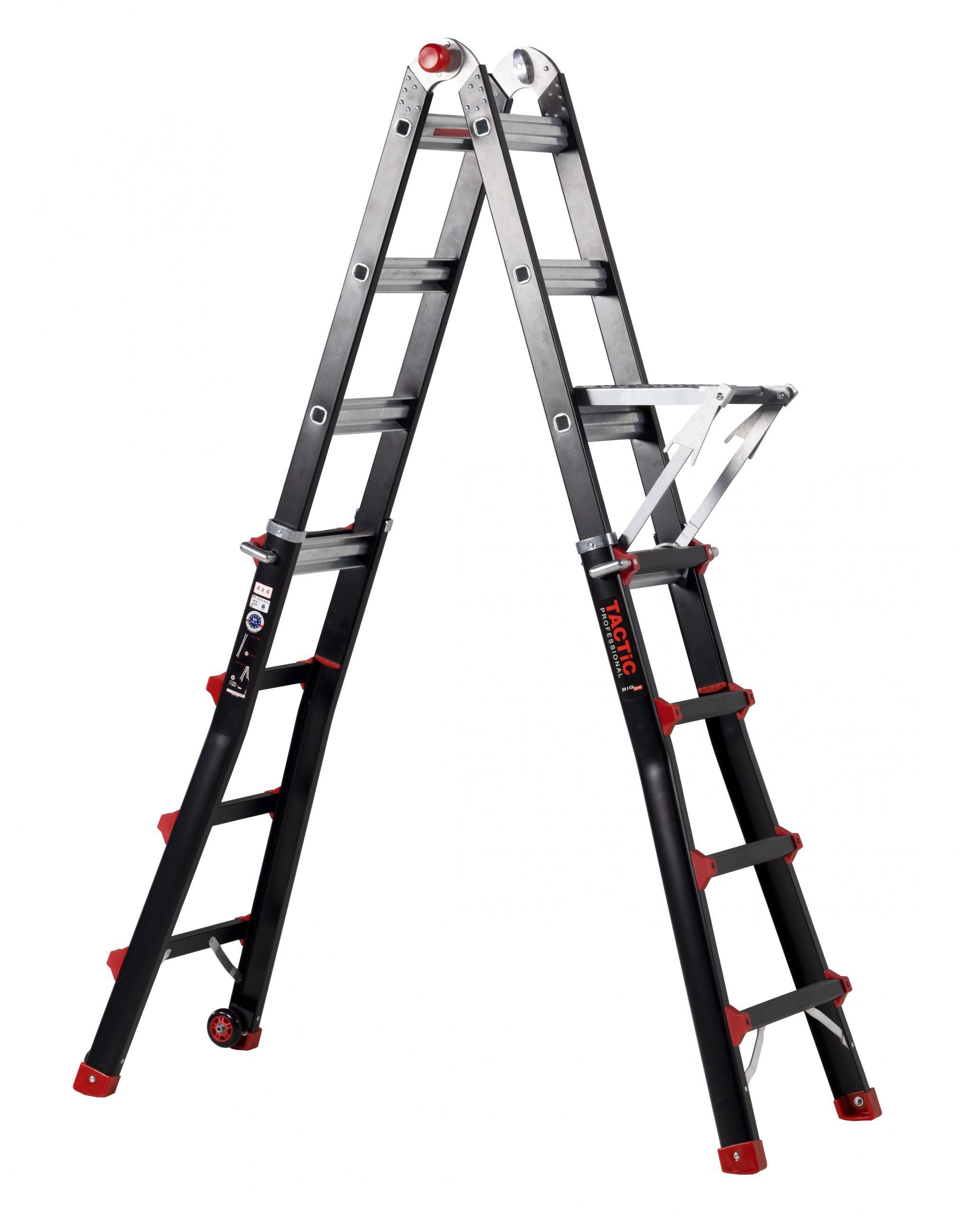 4x4 uitgeschoven met ladderbank
