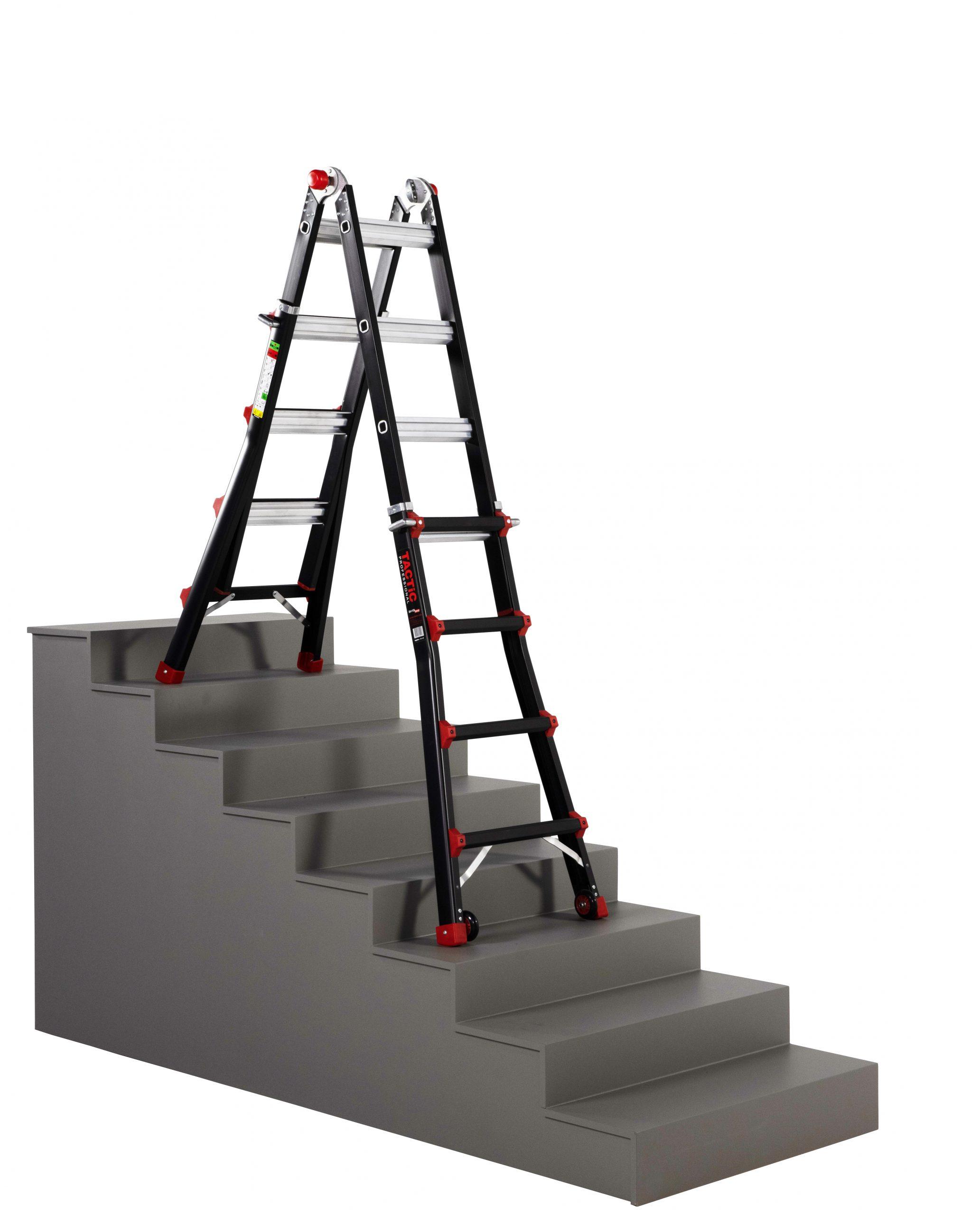 4x4 uitgeschoven op trap