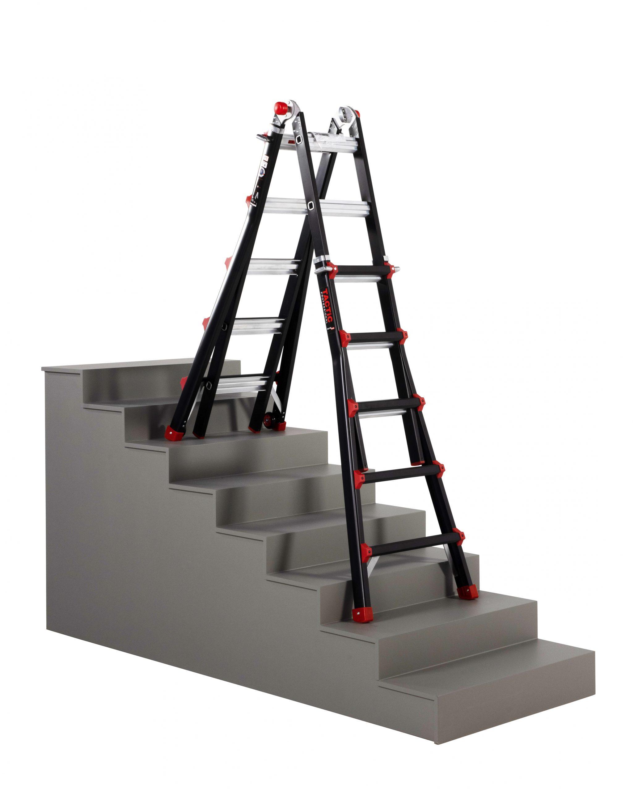 4x5 uitgeschoven op trap