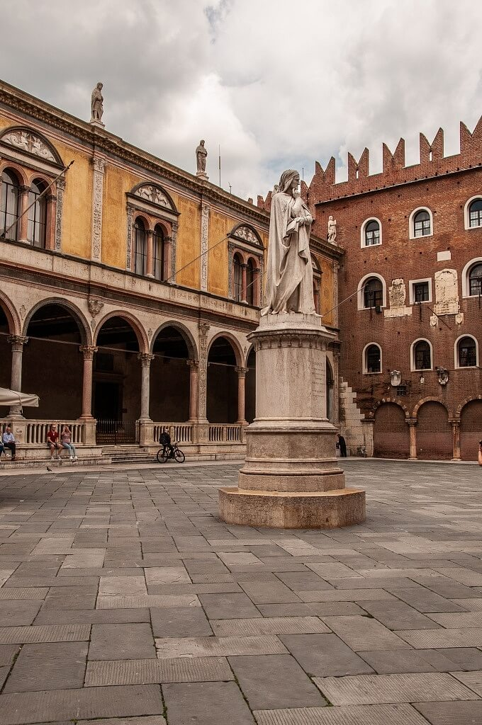 Signori historical square in Verona