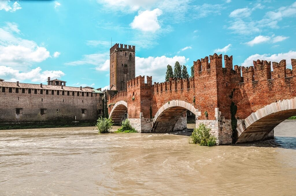 A Bridge in Verona from the Middle Ages