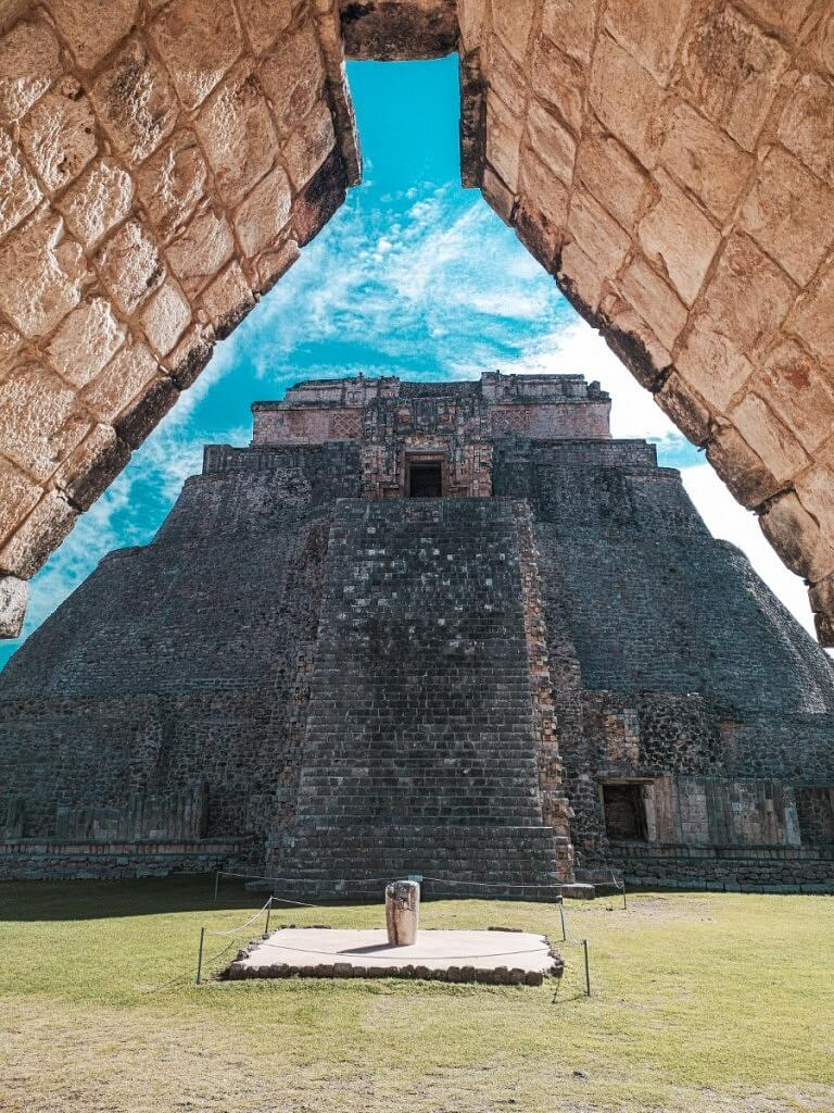 Uxmal Mayan Ruins near Merida city in Mexico