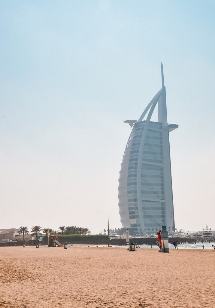 Burj Al Arab Hotel and the Jumeirah Beach