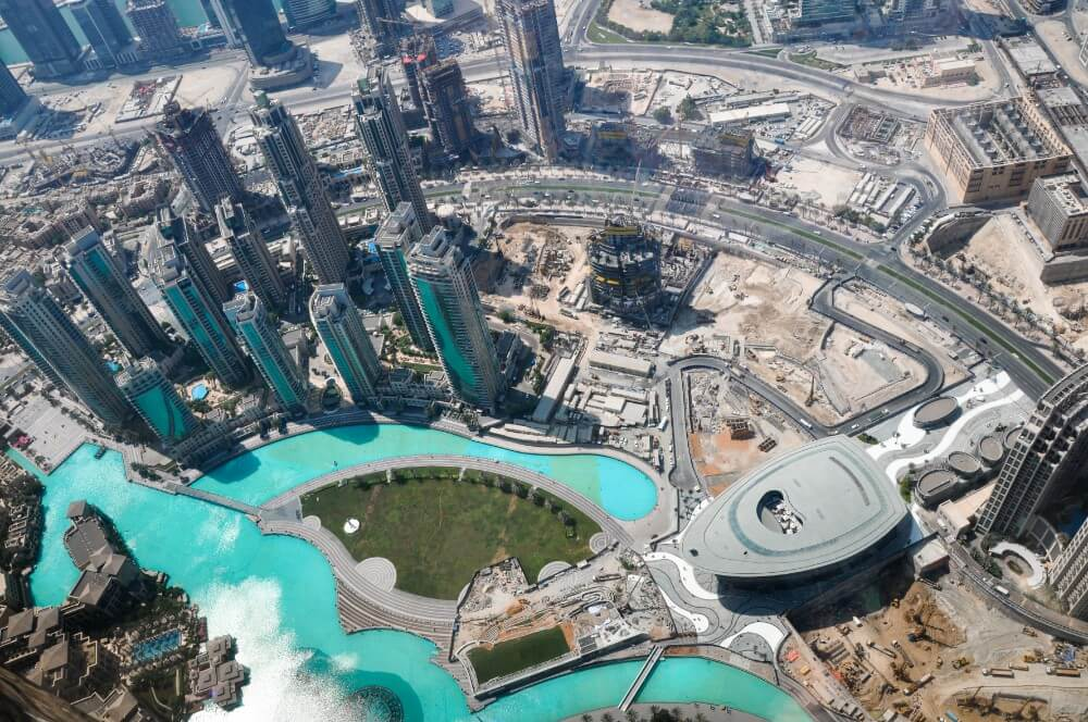 The View from Burj Khalifa, the highest building in the world.