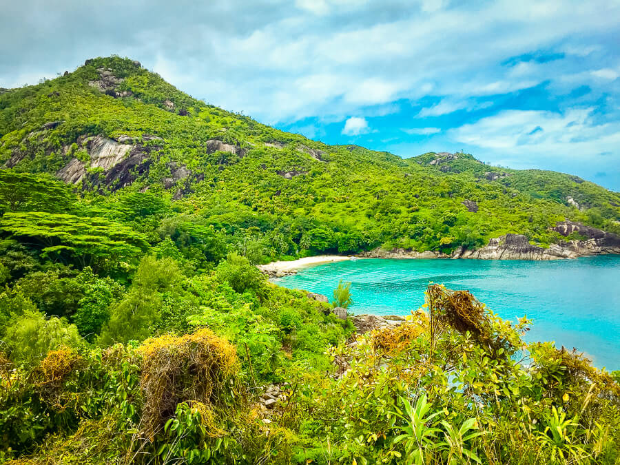 Panoramic View over Anse Major Bay in Mahe island, Seychelles