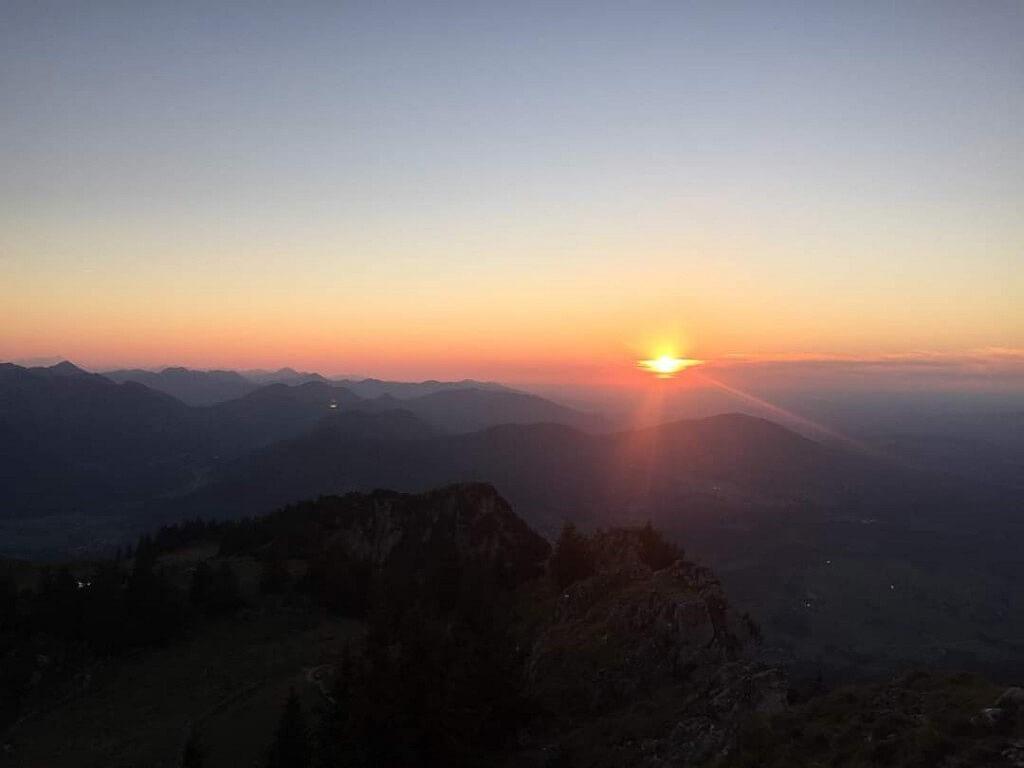 Sunset View from the Mountain Breitenstein