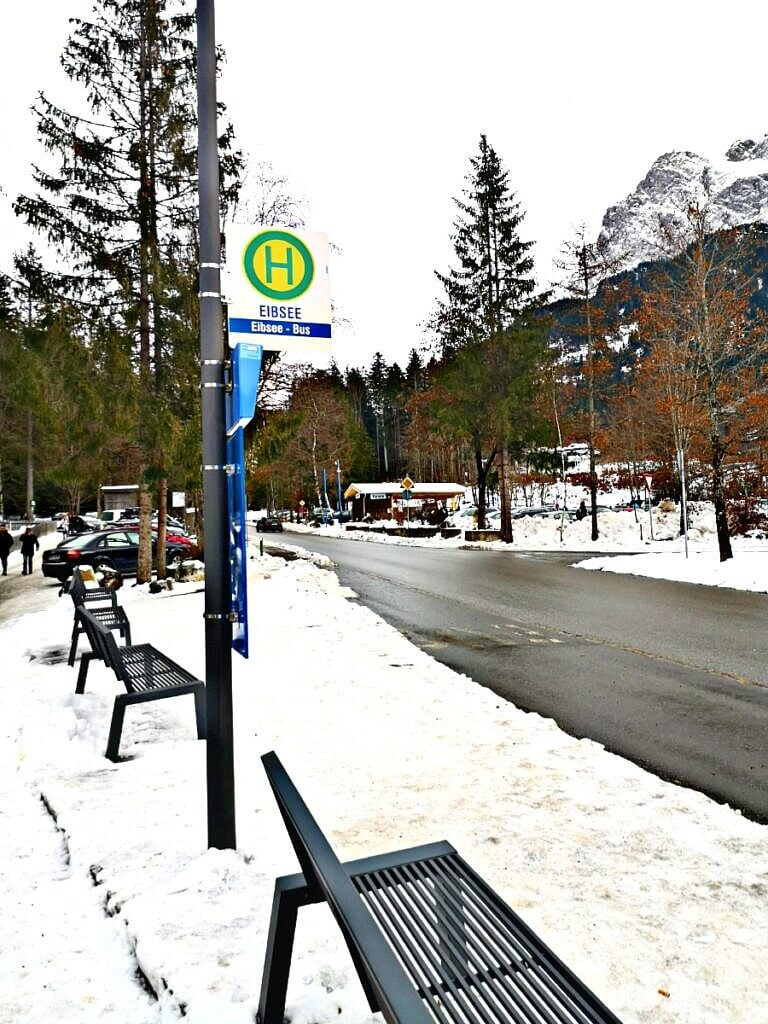 Eibsee Bus Station in Grainau