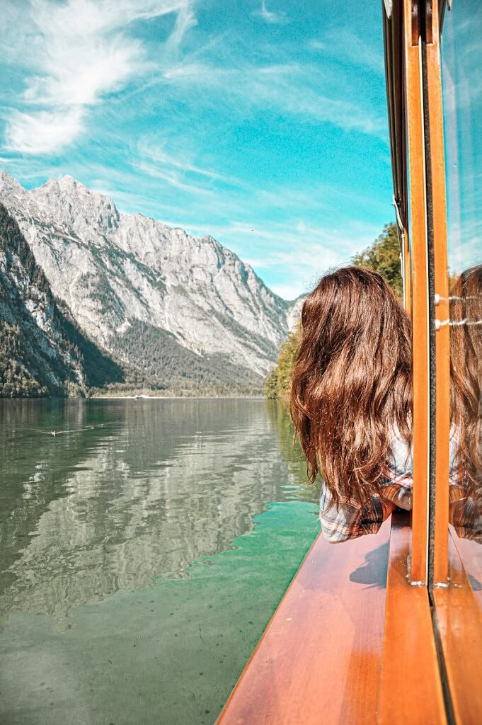 Looking out the ferry crossing the Koenigsee lake