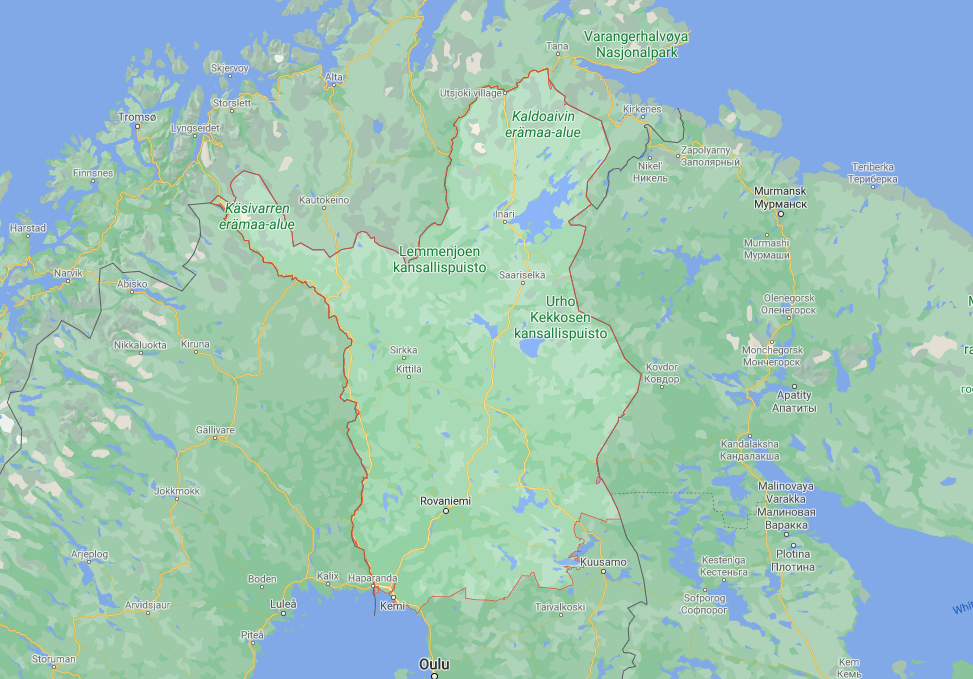 The Map of Lapland