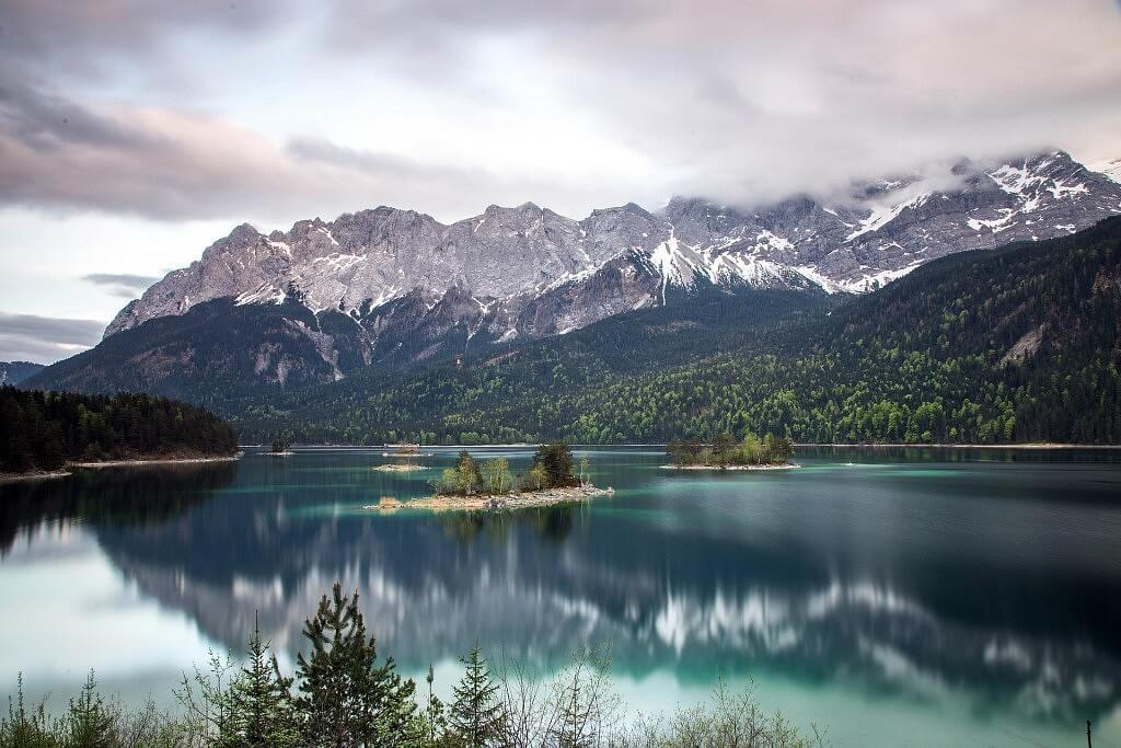 Eibsee lake near Zugspitze