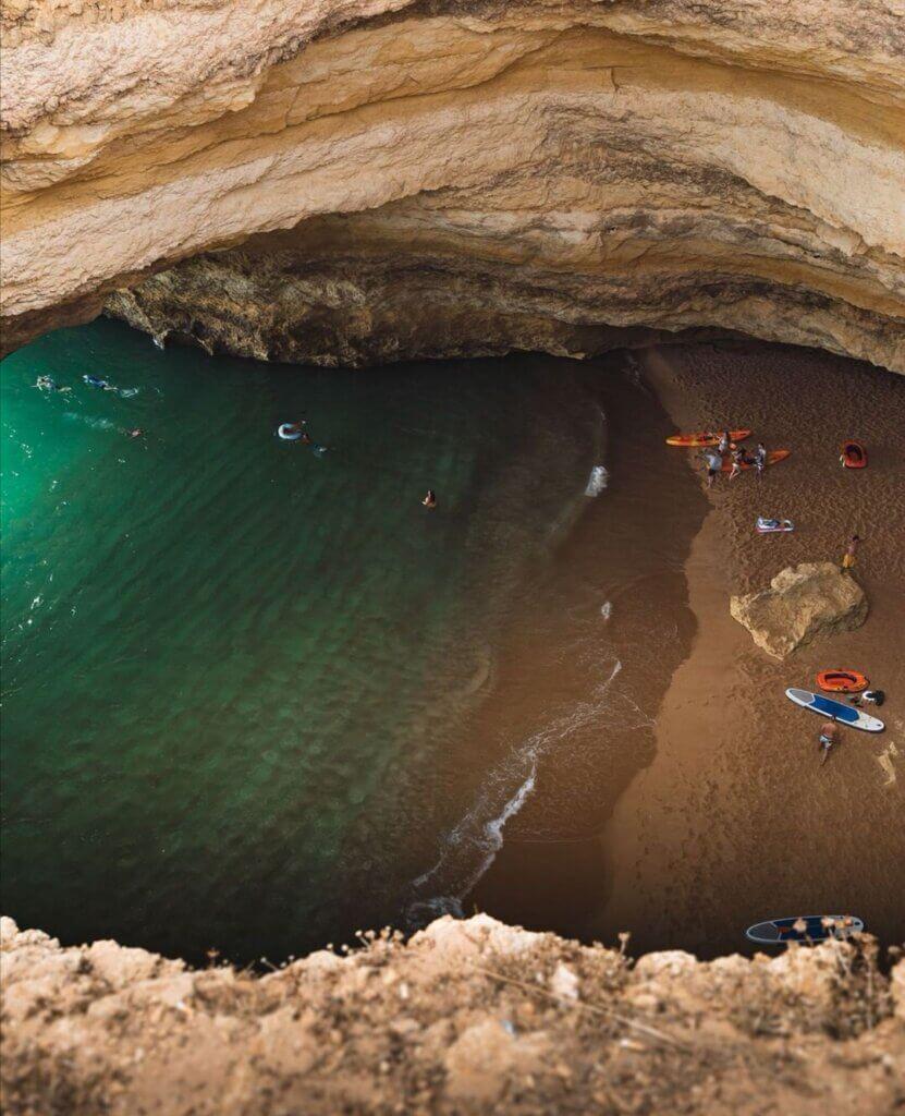 Benagil Cave from Top