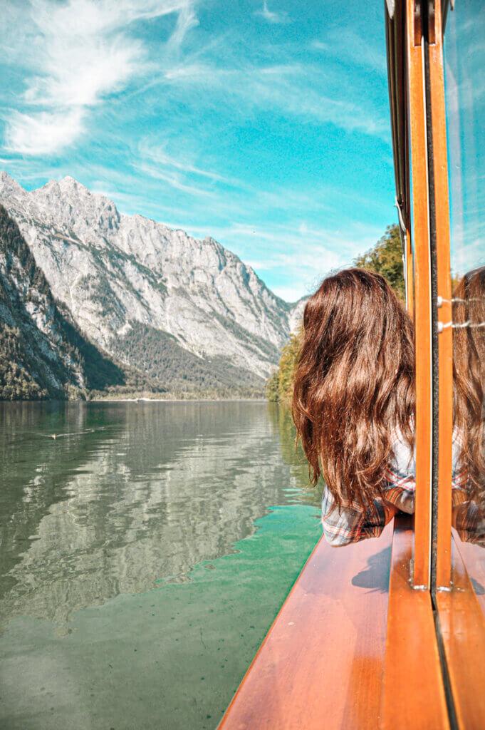 boat ride along the sheer rock faces of Lake Königssee