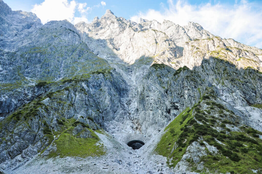 Eiskapelle cave at foot of Watzmann mountain