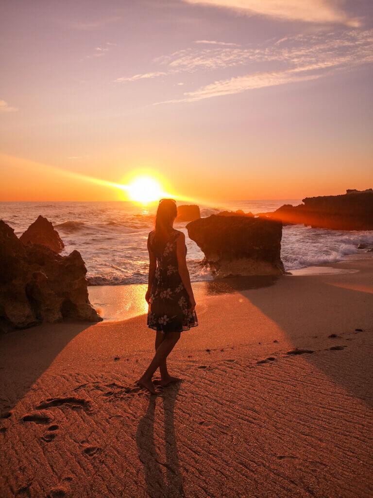 Sunset view over Evaristo Beach