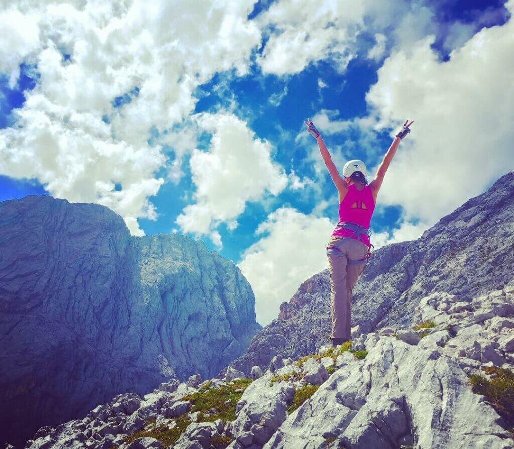 Via Ferrata hiking in the Alps