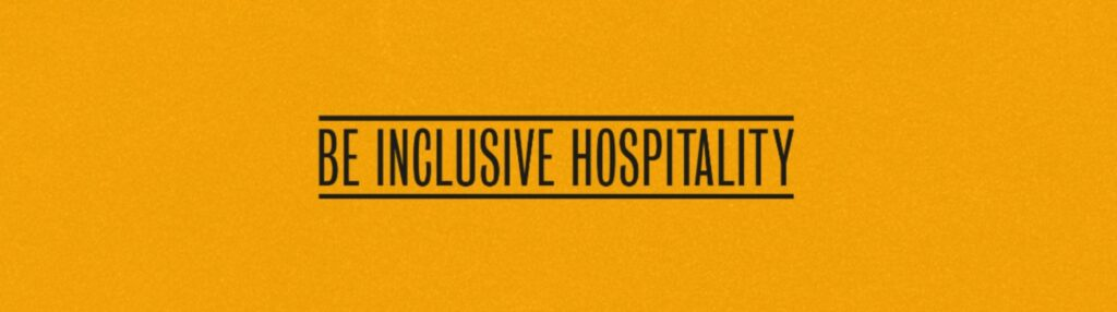 The new logo for Be Inclusive Hospitality