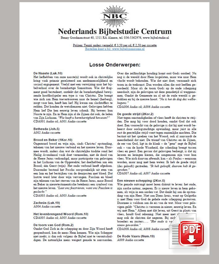 Download NBC Catalogus - ( Rechtermuisknop - ..... opslaan als .... )