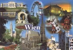 Beispiel für eine aktuelle Ansichtskarte: Ansichtskarte von Wien