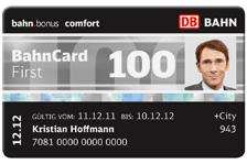 Bahncard100. 1. Klasse bis 2013
