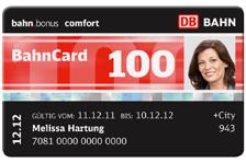 Bahncard100. 2. Klasse bis 2013