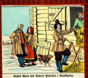 Gustav Wasa bei Anders Pehrsson in Rankhyttan