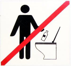 Keine Abfälle in die Toilette werfen. (HŽ)