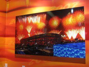 Die beiden prominenten Olympiabauten (Aqua Dome und Bird's Nest) in Peking