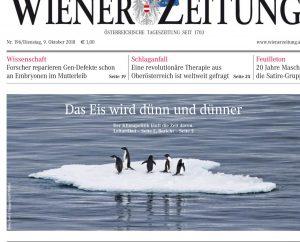 Titelbild - Klimawandel - Wiener Zeitung - 9.10.18