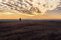 Sonnenuntergang auf Halde Haniel