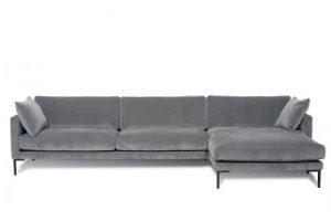 Grå Oslo sofa til hjørnet