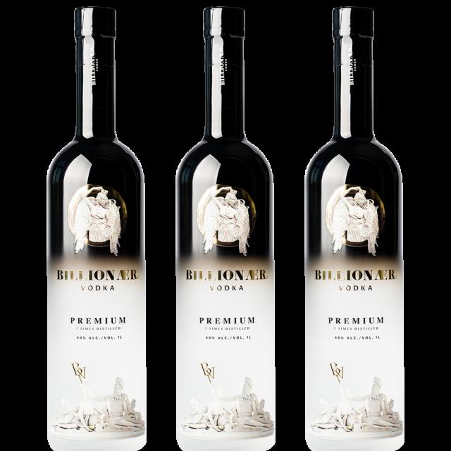 Billionær Vodka - 3 Bottle