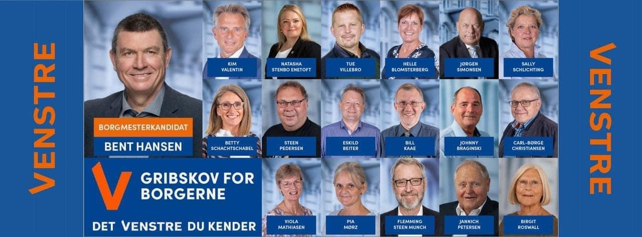 Venstre Gribskovs kandidater til KV21