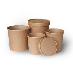 BIO Kraft Soup Containers and Lids