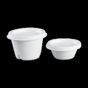Sugarcane Sauce Cups and Lids (2oz 60ml, 4oz 120ml)