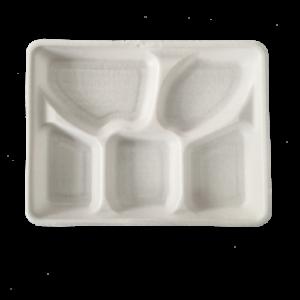 PLA Foam Tray 5-Compartment 26×21 h3cm
