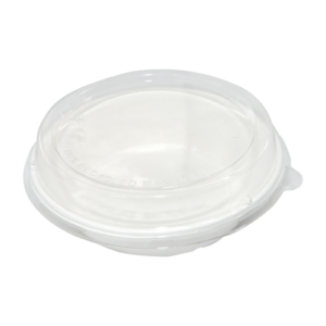 Sugarcane Round Container 900ml with PLA Lid