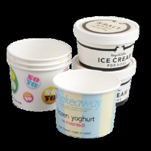 BIO Ice Cream Cups and Lids