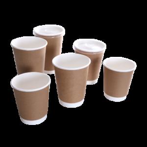 BIO Double Wall Kraft Coffee Cups