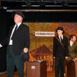 Rehearsal photo from The 39 Steps