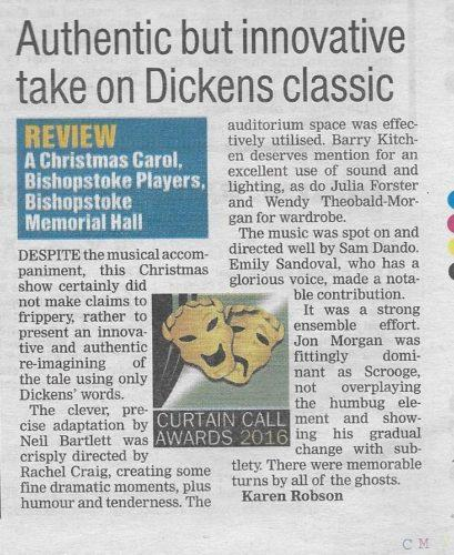 Daily Echo review for Charles Dickens' A Christmas Carol