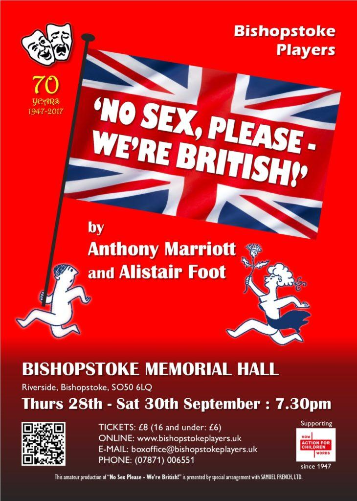 """Poster for """"No Sex, Please - We're British!"""""""