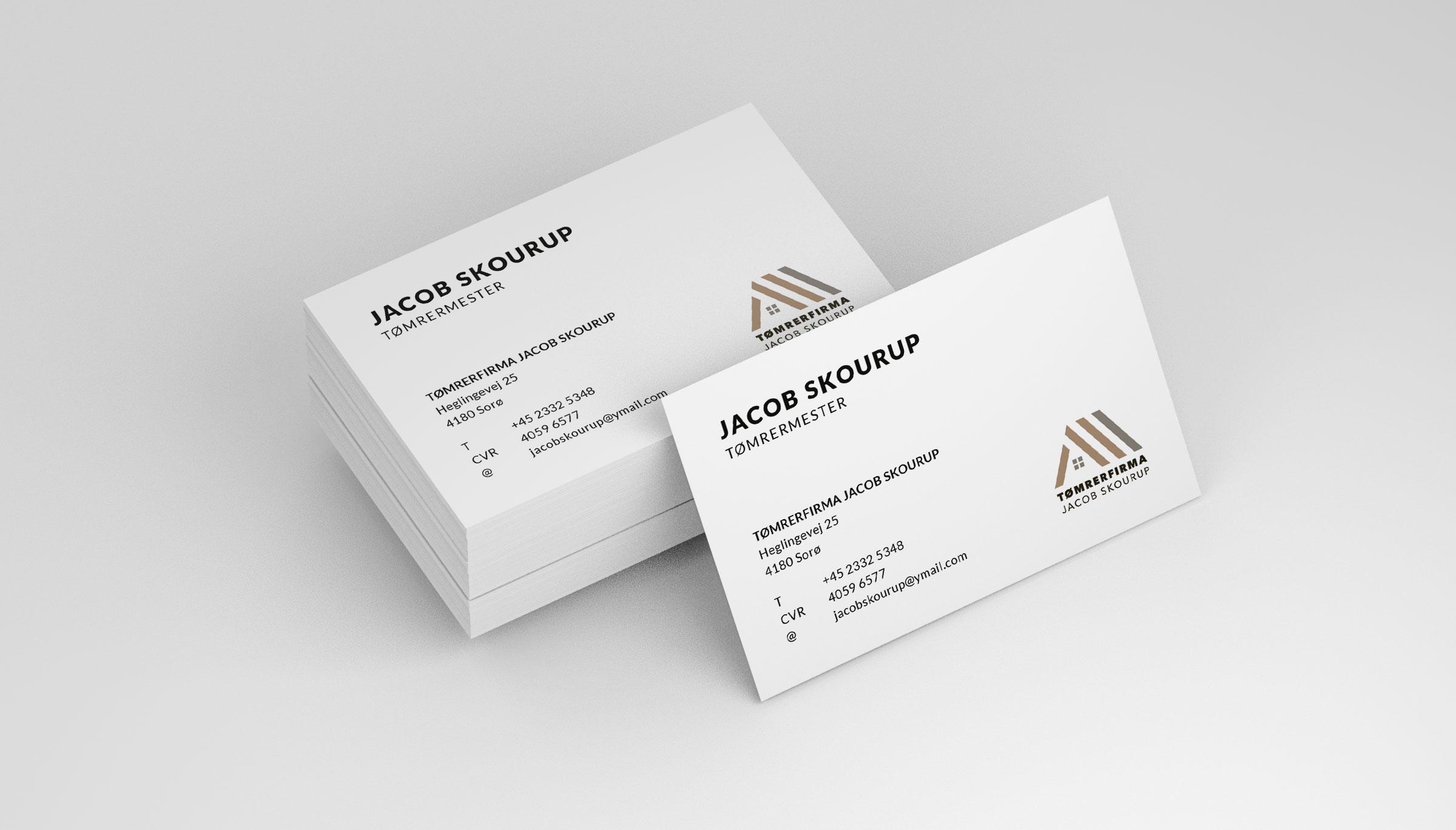 Tømrerfirmaet Jacob Skourup visitkort