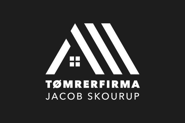 Tømrerfirmaet Jacob Skourup logo kontrast